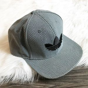Adidas Grey Herringbone Snap-Back Hat
